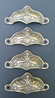 4 Brass Antique Style Victorian Swag Apothecary Cabinet Drawer Handle Pulls #A10