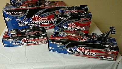 All 4 Action 2003 US Nationals MAC Tools NHRA Top Fuel Dragster 1:24 Diecast lot