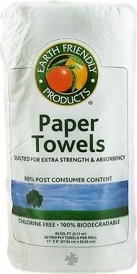 Paper Towels Extra Strength Two-Ply, Earth Friendly Products, 90 sheets 24 rolls