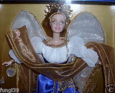 2000 Holiday Angel Barbie Doll Collector Edition Blue & Gold Dress - NRFB - NEW