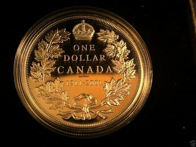 1911/2001 CANADA PROOF RARE SILVER DOLLAR COIN w/ Box & COA
