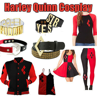Harley Quinn Suicide Squad Coat Dress T-Shirt Halloween Cosplay Costume Clothing