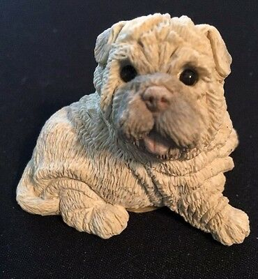 Sharpei Stone Critters Littles  Puppy Dog Figurine United Design Scl-034 - 1988