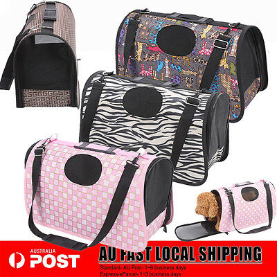 M Portable Pet Dog Cat Carrier bag Soft Crate Travel Carry Cage 4 Colors