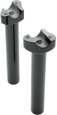 Drag Specialties Handlebar Risers With 8 Inch Rise For Harley Black 0602-0407