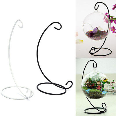 """1X 23cm 9"""" Iron Plant Stand Holder for Clear Glass Hanging Vase Home Decor JR"""
