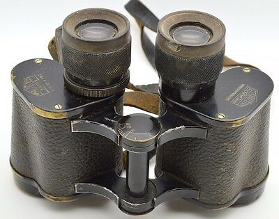 Antique 1935 Huet Paris France 8x30 Grand Champion Trinotix Army Binoculars