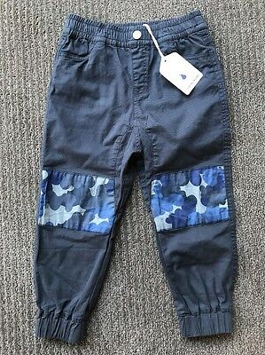 Country Road Baby Boy Charcoal Pants Chinos Size 4 BNWT New