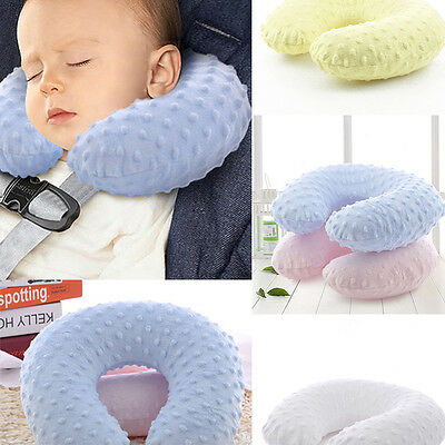Kids Micro Bead PVC U Shaped Travel Inflated Pillow Baby Head Neck Support Pads