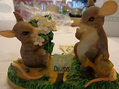 """Charming Tails """"I Love You A Whole Bunch"""" SIGNED Fitz and Floyd, Mouse Spring"""