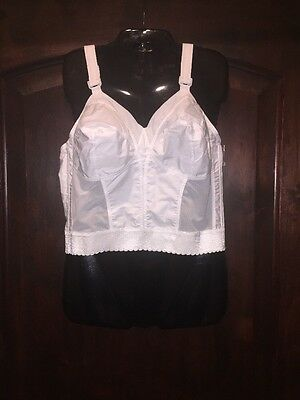 Sears Exquisite Form vintage look white wirefree longline bra sissy size 36 C
