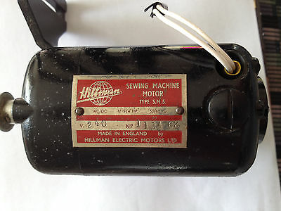Hillman Sewing Machine Motor Type S.m.s. 240V Made In England Very Good Condit.