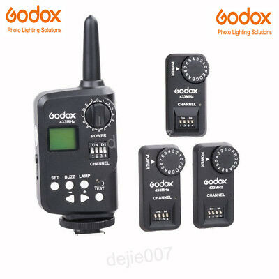Godox FT-16S Wireless Power Control Flash Trigger with 3 Receiver for Speedlite