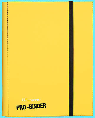 ULTRA PRO 9 POCKET YELLOW BINDER STORAGE 360 Side Loading Card 20 Pages Pokemon