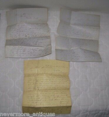 Lot of 3 Antique Handwritten McCollister Family Letters 1850s State Line PA #12