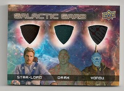 2017 Guardians Of The Galaxy Vol 2 #tm-1 Star Lord Drax Yondu Memorabilia Card