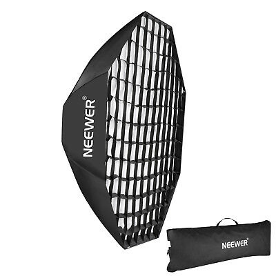 "Neewer 55"" Portable Octagon Beehive Softbox with Grid Bowens Mount"