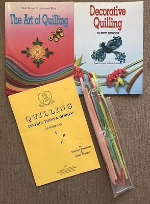 3 x QUILLING books DECORATIVE plus ART OF QUILLING Tra & Johnston, CRAFT LOVERS