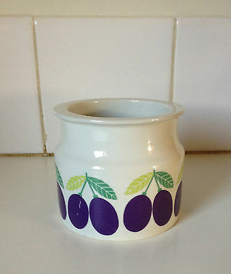 Arabia Finland Large Plum Jam Pot Vintage 1971 Scandinavian Design Retro