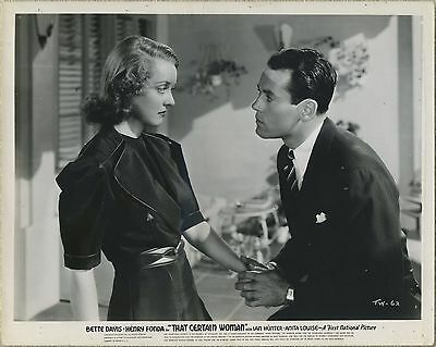 Bette Davis + Henry Fonda Vintage 1937 Still Photo THAT CERTAIN WOMAN TW-62
