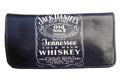 Tobacco Case Pouch Synthetic Leather Wallet Bag Smoke Rolling Black Jack Daniels