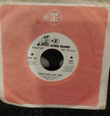 """45"""" Tiny Tim promotional record Great Balls of Fire on Reprise Records"""