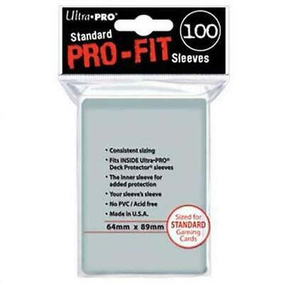 ULTRA PRO Card Sleeves - Pro-Fit Standard Clear 100 ct - 64 x 89 mm