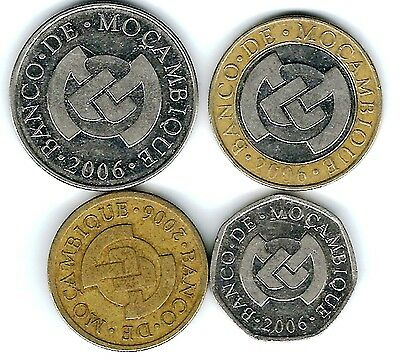 4 different world coins from MOZAMBIQUE