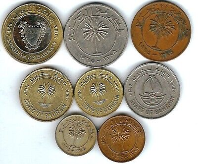 8 different world coins from BAHRAIN
