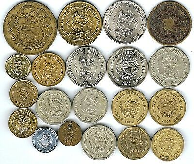 20 different world coins from PERU some scarce