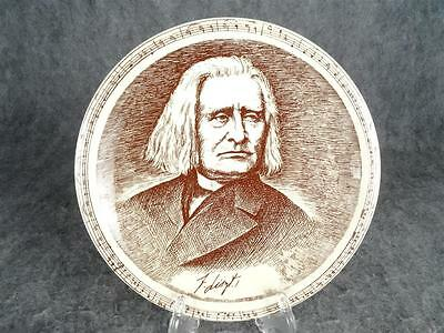 Vintage Circa 1930'S - 50'S Vernonware Composer Series Plate Of Liszt