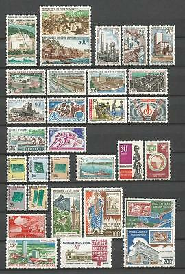 Cote D`ivoire 1968-1971 Nice Selection Mnh ** 50+ Stamps