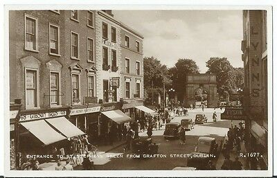 Dublin Grafton Street Shop Fronts Martin Auctioneers RP by Valentines #R.1677