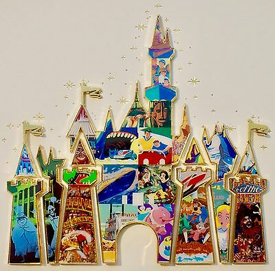 Disney Pins Disneyland Castle Puzzle Frame Limited Edition by Tyler Dumas