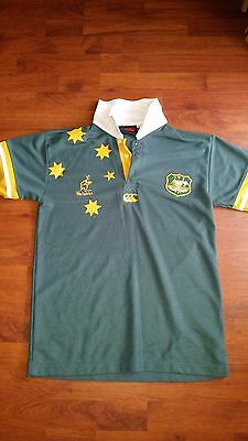 rugby union - wallabies polo shirt - size adult medium