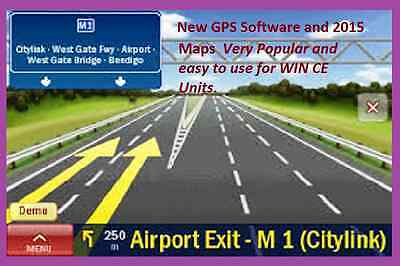GPS Software,and April.2016  AU & NZ Maps, on micro SD Card.for win ce devices