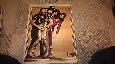 SLADE HUGE SIZE TURKISH MAGAZINE POSTER 1970s ORIGINAL RARE ! FOR FRAMING !
