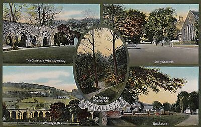 Whalley, Lancs, Multi-view, old postcard, unposted