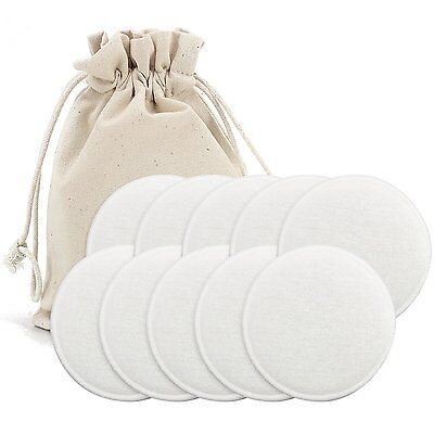 Almondcy Washable Organic Nursing Pads - 10 Pack 5 pairs - Reusable Breast Pads