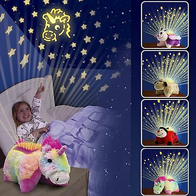 Sale kids soft toy cuddle pet dream pillow cushion with starry sky night light