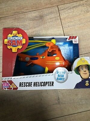 Fireman Sam Rescue Helicopter Vehicle - Toys Brand New Free Delivery