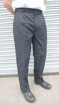 Ex Police Black HMP Prison Officer Security Uniform Polycotton Trousers D7 (NC1)