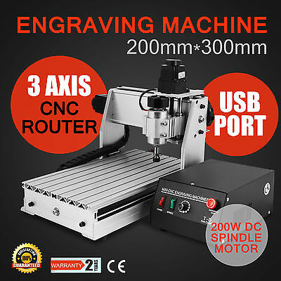 3 Axis 3020T Usb Cnc Router Engraver Engraving Machine 200W Cutter Woodworking
