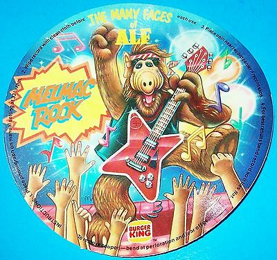 NEW 1988 THE MANY FACES OF ALF: MELMAC ROCK FLEXI-DISC RECORD 45 rpm BURGER KING