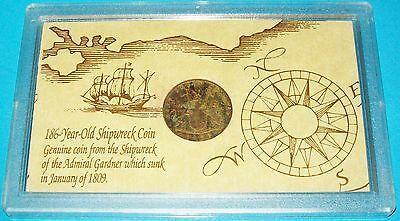 1808 Admiral Gardner Shipwreck Cash Coin East India Company In Presentation Case