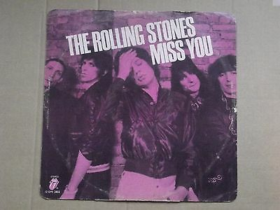 "The rolling stones - Miss you, 12"" Pink EP single."
