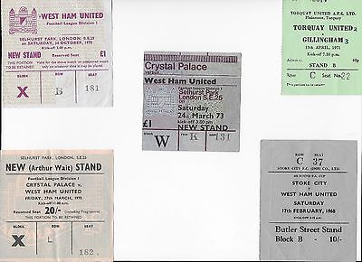 TICKET 1972/73 Crystal Palace v West Ham League