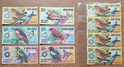 private issue Cabo Dakhla set 6 banknotes 2015 UNC