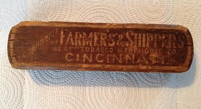 EARLY 1900'S ADVERTISING SHOE SHINE BRUSH Farmer's & Shipper's Leaf Tobacco Co.