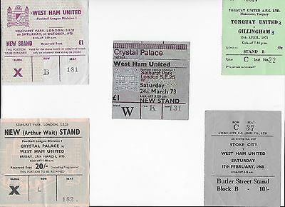 TICKET 1967/68 Stoke City v West Ham FA Cup